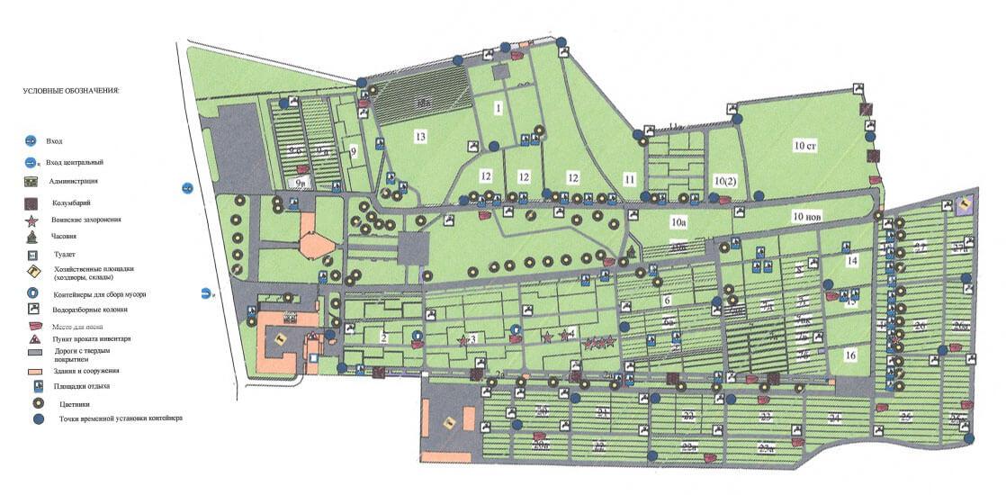 Троекуровское кладбище: памятники и схема захоронений