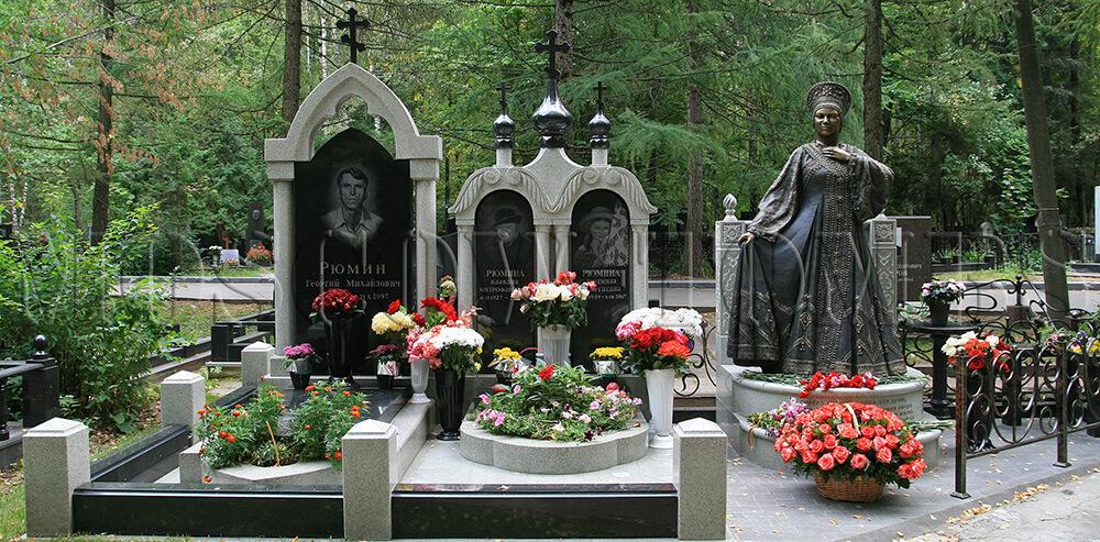гранитные памятники на Востряковском кладбище